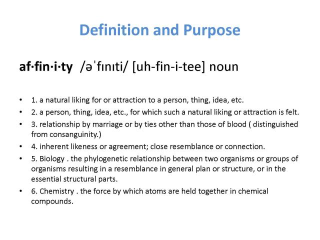affinity purpose and definition