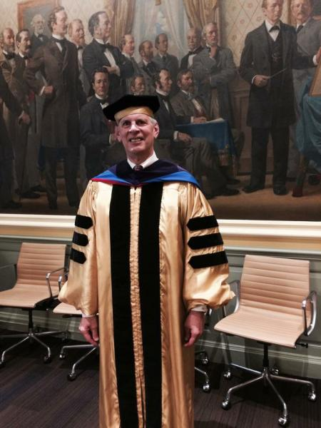 JHAA President at the Doctoral Hooding Ceremony
